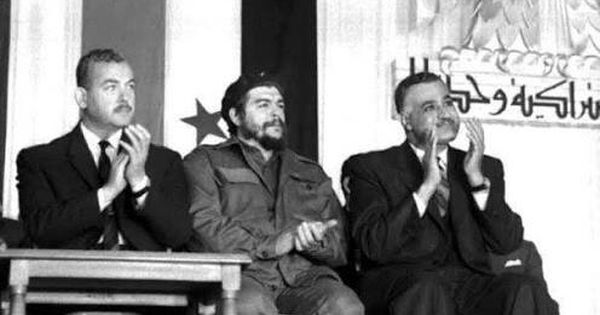 جمال عبد الناصر و حسين الشافعي مع تشي جيفارا Che Guevara Art Egypt History Old Egypt