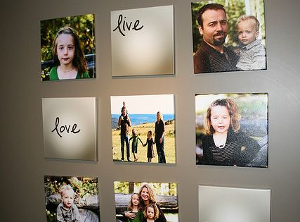 Wall decorations blmohundro Love this photo wall idea!