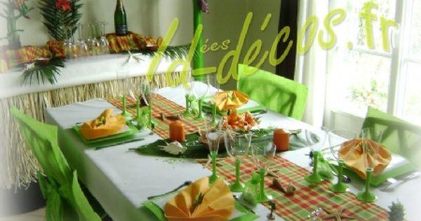 Pour cette table de mariage antillais un chemin de table - Cette de table ...