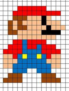 Mario Minecraft Pixel Art Template Pixel Art Grid Pixel