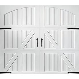 Pella Carriage House Series 108 In X 84 In White Single Garage Door 12 Single Garage Door Garage Doors White Garage Doors