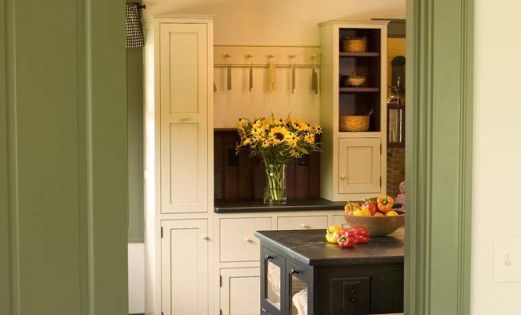 Vintage Green Kitchen Cabinets Early American Kitchens