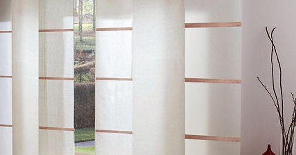 Stores japonais et panneaux rideaux oriental stores interieurs pinterest - Fabriquer panneau japonais ...