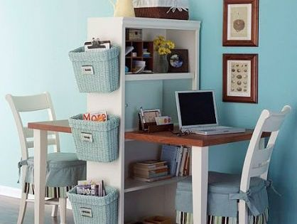 "Small Space ""office space"" maybe good desk for kids room?"