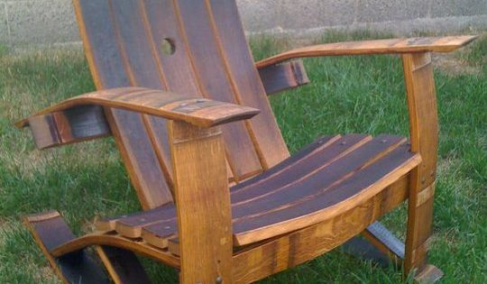 Wine Barrel Stave Rocking Chair For The Home Pinterest