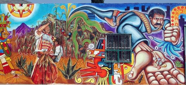 Chicano a mural la i heart art pinterest chicano for Chicano mural art