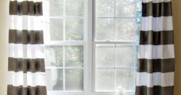 Diy Custom Window Treatments Painted And Stenciled Curtains Painted Curtains Curtains And