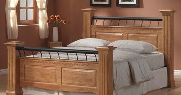 Ideal Furniture Rolo King Size Oak Bed Frame Oak Bed Frame