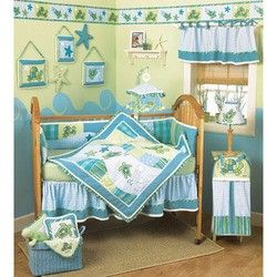 Baby Bedding Crib Cot Quilt Nursery Decor Ocean Turtles Blanket