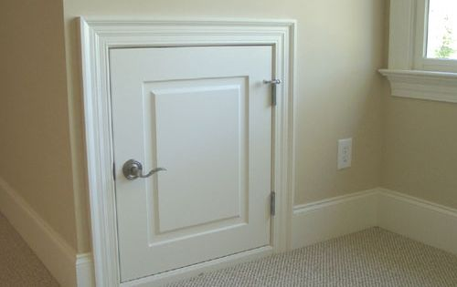 Attic access door bathroom remodeling ideas pinterest for Bathroom access panel ideas