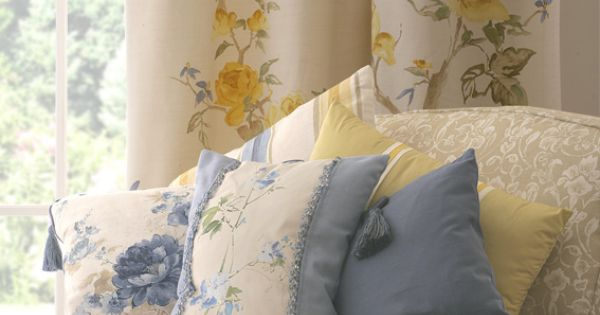 yellow and blue curtains images | heather ross | made to measure ...