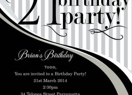 16 Ideas Birthday Invitations Wording 21st 21st Birthday Invitations Party Invite Template Birthday Card Template Free