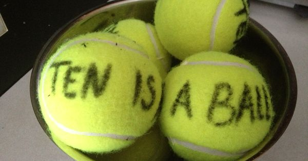 Tennis Ball Ten Is A Ball Party Favor For 10 Year Old