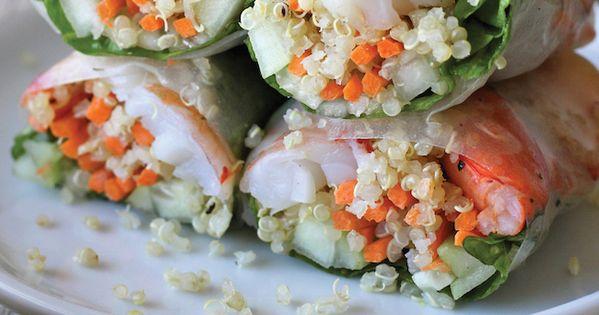 Roasted shrimp, Spring rolls and Quinoa on Pinterest