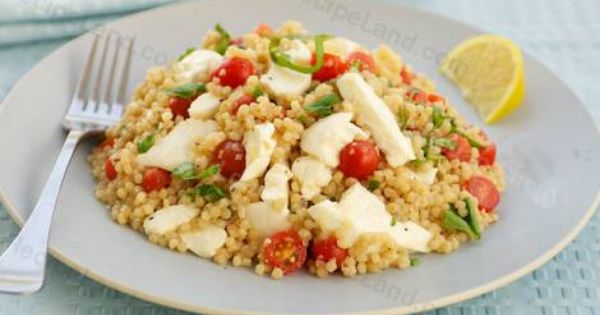 Mozzarella, Couscous and Tomatoes on Pinterest