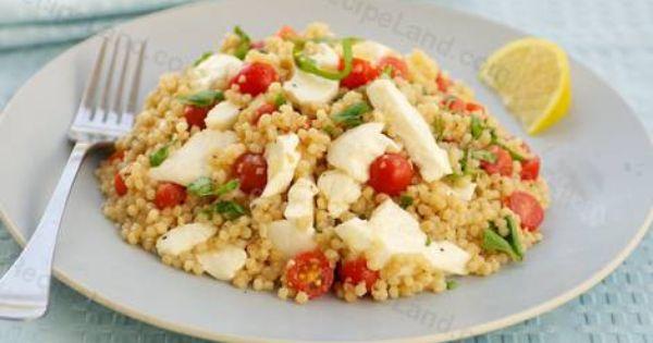 Mozzarella, Couscous and Tomatoes on Pinterest