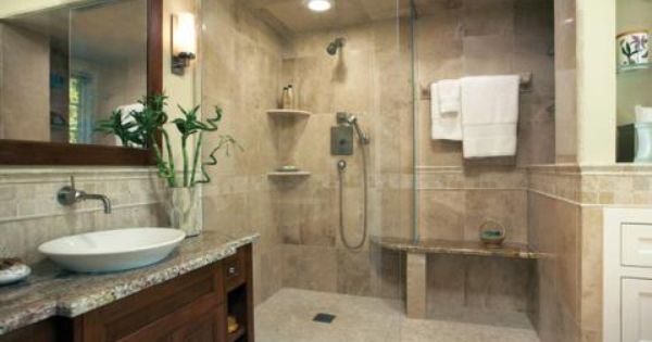 Contemporary Bathroom With Small Light Tan Tile Shower Flooring Designmine Sophisticated Bathroom Bathroom Remodeling Trends Bathroom Design