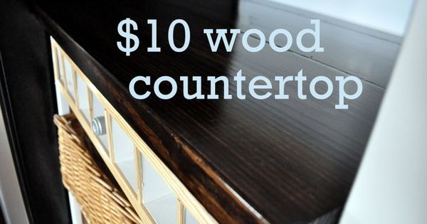 $10* DIY Wood Countertop - Cleverly Inspired. Older HGTV episode of Kitty