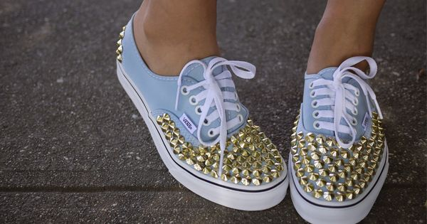 #gold stud vans DIY trendy edgy