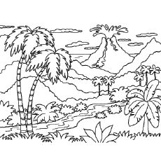 Top 10 Free Printable Volcano Coloring Pages Online Beach