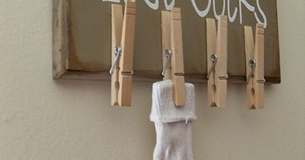 lost sock laundry room idea. such a good/ cute idea!