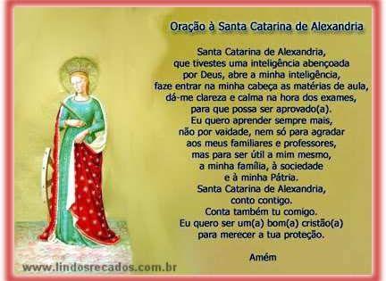 Lindos Recados Oracao A Santa Catarina De Alexandria Oracao