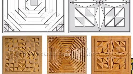 Coasters chip carving patterns wood