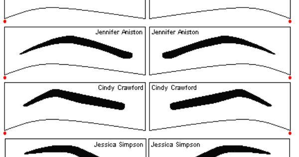 printable eyebrow stencil template - free eyebrow stencils stencils pinterest eyebrow