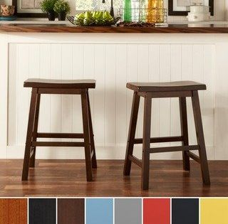Salvador Saddle Back 24 Inch Counter Height Backless Stool Set Of 2 By Inspire Q Bold Counter Height Stools Backless Stools Dining Room Bar