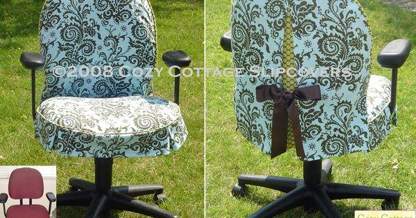 Gina dedominici graphic design office chair slipcover - Como forrar una silla de escritorio ...