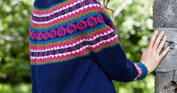 Fair Isle Knitting Kits Canada : Folksy yoke this stunning fair isle cardigan is a great