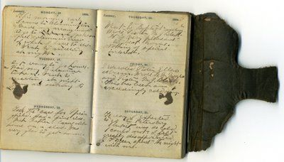 Open Antique Diary Vintage Journal Sketchbook Art Journal Sketch Book
