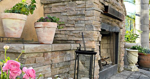 How To Build An Outdoor Stacked Stone Fireplace Fireplaces Decks