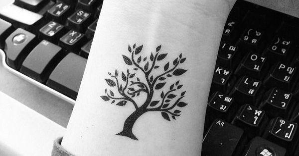 Small tree tattoo - 60 Awesome Tree Tattoo Designs ♥ !