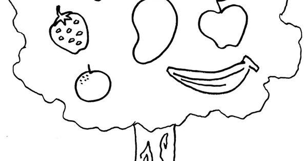 Mewarnai Gambar Pohon Buah Buahan Menggambar Pohon Buku Mewarnai Gambar