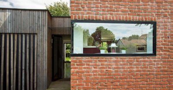 maison moderne avec grandes fen tres baies vitr es et baies coulissantes facades bays and. Black Bedroom Furniture Sets. Home Design Ideas