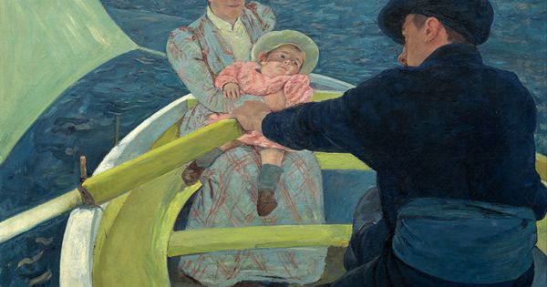 Mary cassatt the boating party la fiesta n utica leo for Sofa tela nautica