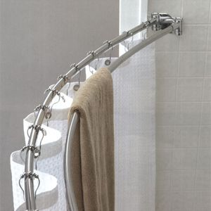 Best Value Double Curved Shower Rod Bathroom Remodel Small