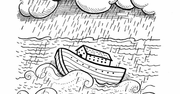 Noah and the Ark Bible Story Colouring Page The story of Noahs Ark Pinterest Bible stories