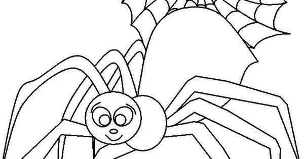 Cute Spider Girl Coloring Page