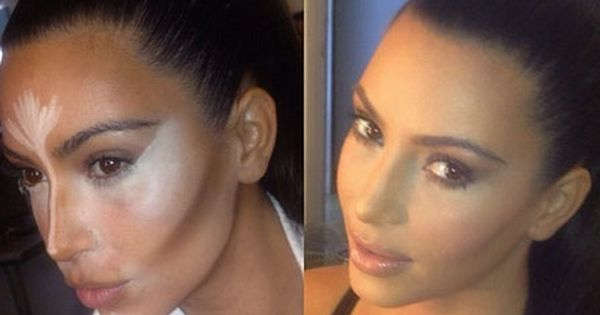 What's Kim Kardashian's flawless makeup secret? Contouring! i am not really a