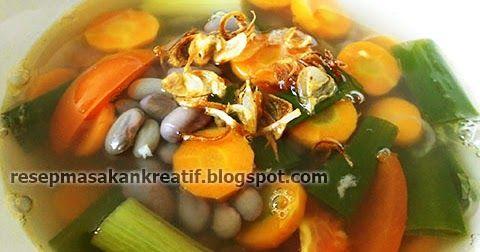 Resep Sup Kacang Merah Gurih Tanpa Daging Sup Kacang Resep Masakan Resep Sup