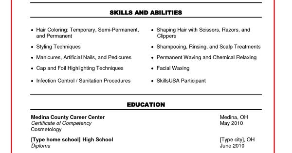 cosmetologist resume samples just out of school     jobresume website  cosmetologist