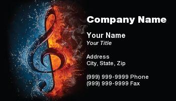 Music Business Cards Zazzle Com Music Business Cards Musician Business Card Music Business