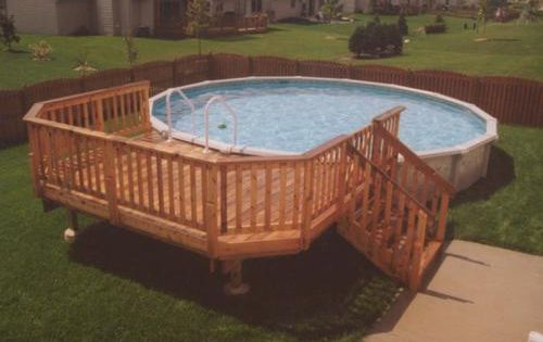 10 X 14 Deck For A 24 Pool At Menards Summer Fun