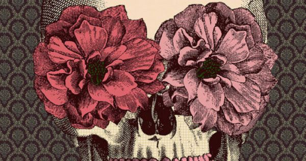 floral skull- tattoo idea