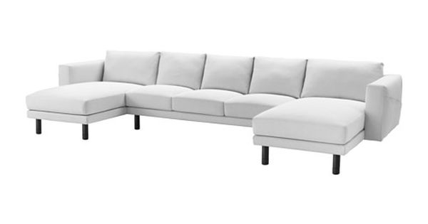 Norsborg 3 Seat Sofa With 2 Chaise Longues Finnsta White Grey Norsborg