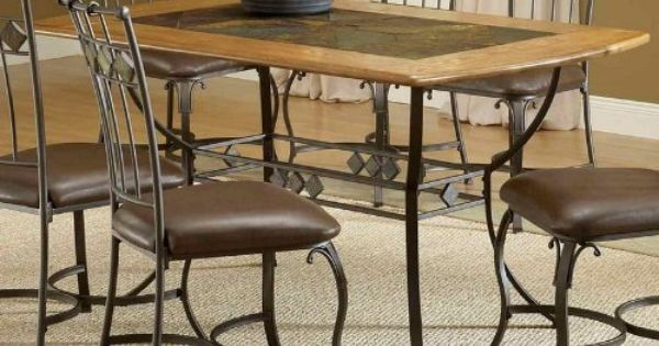 Hillsdale Furniture Lakeview Round Dining Table W Metal Legs And