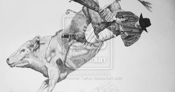 Bull Riding Drawings Bull Rider By Myxsummerxrain On
