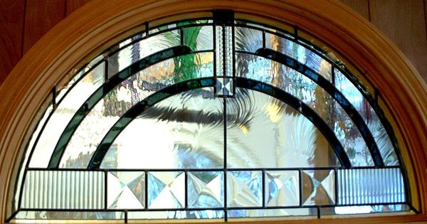 Modern stained glass designs contemporary half round for Arch inside home designs